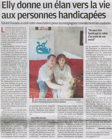 Article paru dans La Provence Le 6 Février 2012 - Association Elly (Salon de Provence 13300)
